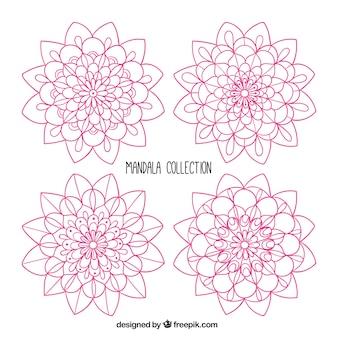 Mandala collection, hand drawn