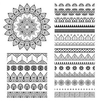 Mandala elements collection
