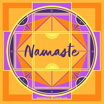Mandala namaste background in flat design
