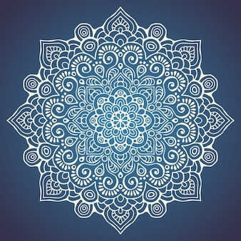 Mandala on a dark blue background