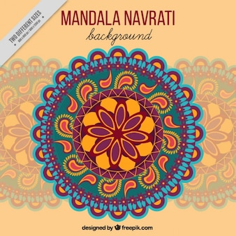 Mandala ornamental background of navratri