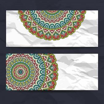 Mandala style banners