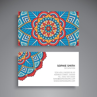 Mandala style business card