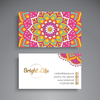 Mandala visiting card