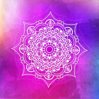 Mandala watercolor background