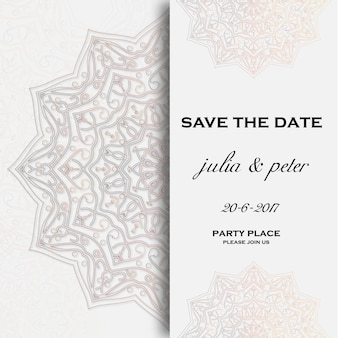 Mandala wedding invitation