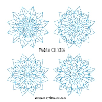 Mandalas collection, blue collection