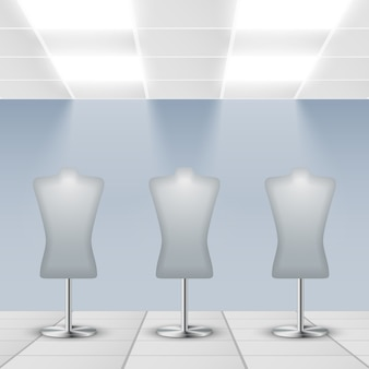 Mannequins background design
