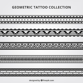 Maori geometric tattoo collection
