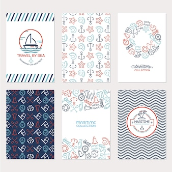 Maritime elements background  collection