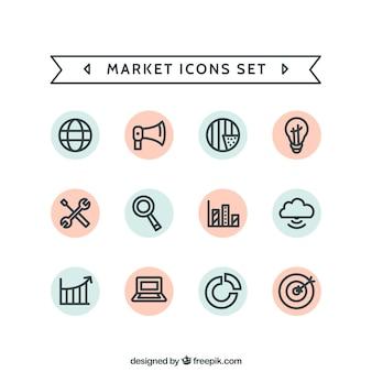 Market icons