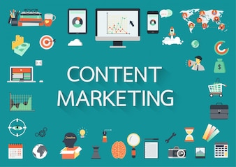 Marketing elements background