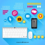 Marketing infographic with elements
