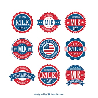 Martin Luther King Day Badges Collection