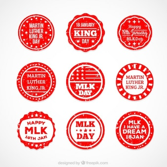 Martin Luther King day rounded badges