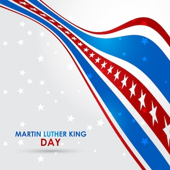 Martin luther king jr. day, background red and blue with stars