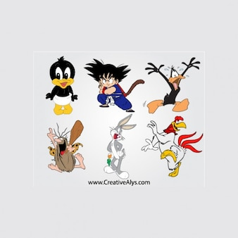 mascot cartoon character vector pack