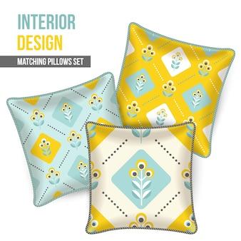 Matching pillows set