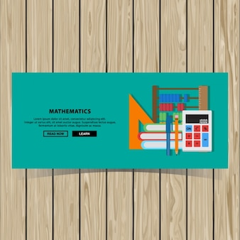 Mathematics banner design