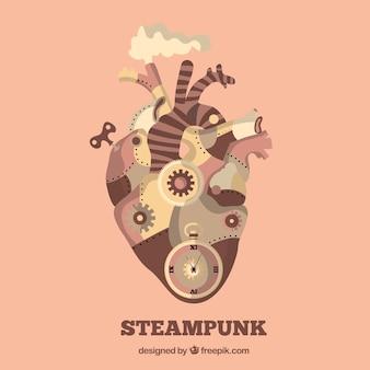 Mechanic heart in steampunk design
