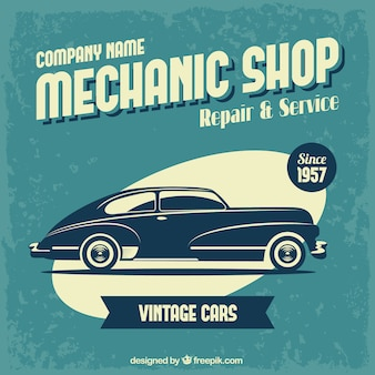 Mechanic shop poster