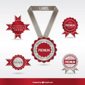 Medals vector free set