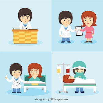 Medical care characters