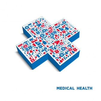 Medical cross background