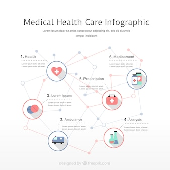 Medical health care infographic elements