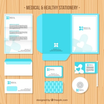 Medical light blue stationery