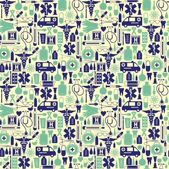 Medical pattern in vintage style