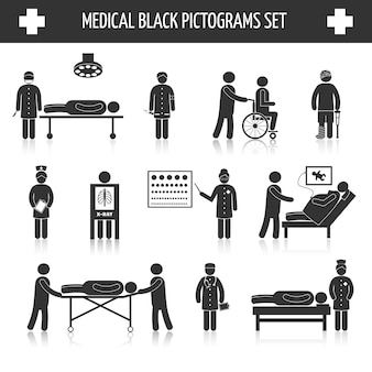 Medical pictograms collection