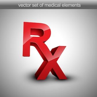 Medical rx letter design