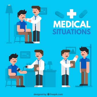 Medical situations Flat Illustration