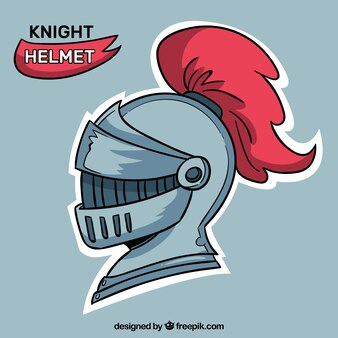 Medieval helmet with hand drawn style