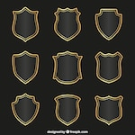 Medieval shields collection