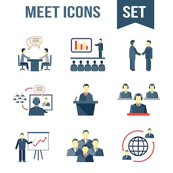 Meeting icons