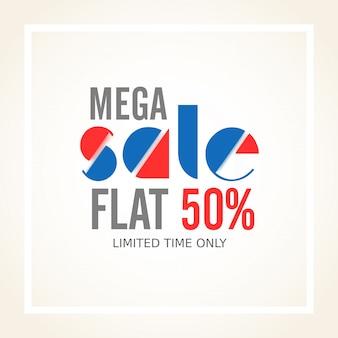 Mega Sale Poster, Banner or Flyer design.