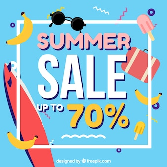 Memphis background of summer sales