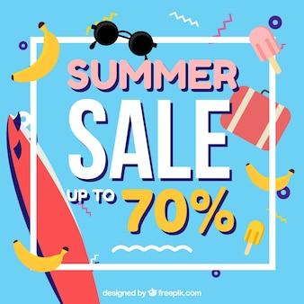 メンフィスの夏の販売の背景