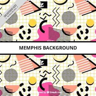 Memphis background with black details