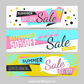 Memphis banner for summer sales