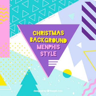 Memphis christmas background