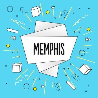 Memphis origami background