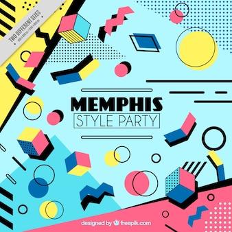Memphis party background