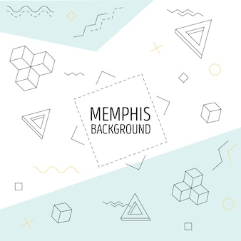Memphis pattern background