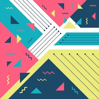 Memphis style background design