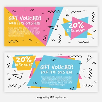 Memphis style gift coupons