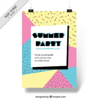 Memphis summer party poster