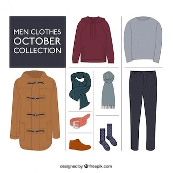 Men clothes, october collection